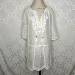 Zara White Tunic Dress Cover Up
